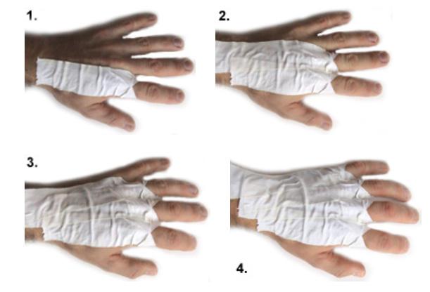 موسسه علمی پزشکی کوهستان ایرانیان - دست کش های شکاف نوردیحالا یک دور چسب را به صورت افقی بر روی انگشت شست خود بکشید و سپس یک یا دو دور را به دور مچ دست خود چسب کنید تا بقیه چسب ها ...
